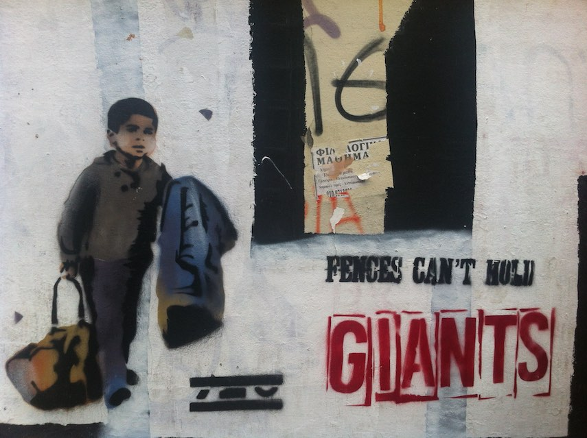 Street-art: Fences can't hold giants