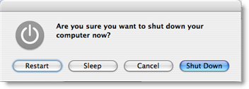 Mac OS X 10.5 Leopard Alternate dialog button