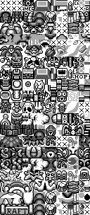 The tileset of Link's Awakening Overworld