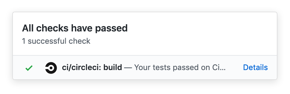 Github automated version check passing
